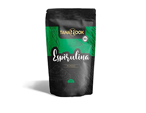 Tanahook - Spirulina Powder - Superfood - 100% Organic - Premium Quality - Content 200 g - Source of Proteins, Vitamins and Minerals - Powerful Antioxidant - Organic Product