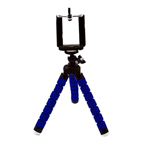 Zhice Soporte para teléfono móvil Soporte Flexible Trípode para cámara de teléfono móvil Soporte Selfie (Color : Blue)