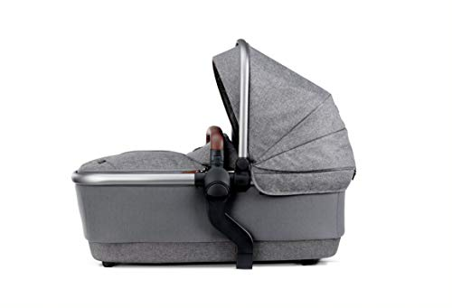 Silver Cross Wave 2020 Baby Carrycot, Stroller Accessory, Bassinet with Fully Extendable Hood and Apron, Newborn to 6 Months – Zinc