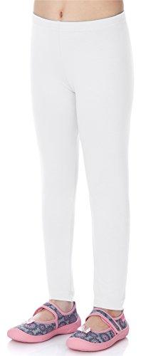 Merry Style Leggins Mallas Pantalones Largos Ropa Deportiva Niña MS10-130 (Blanco, 146 cm)