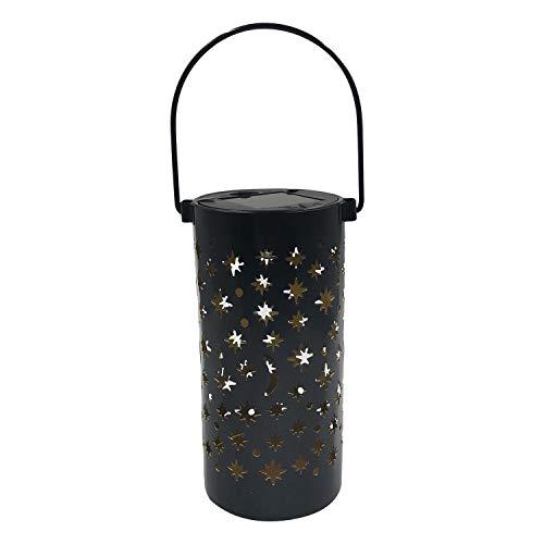 Kiaya Luzes solares do jardim Luzes solares LED Luzes ocas da estaca do jardim Suspensão Lua Sol Forma de estrela Projeção Lâmpada LED Caminho Caminho Gramado Pátio Iluminação do quintal Ao ar