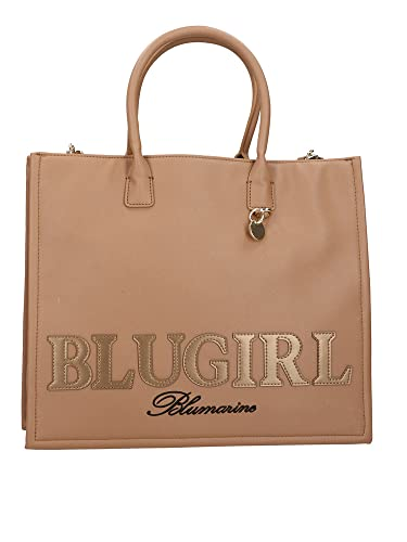 BLUGIRL BLUGIRL Bolso SHOPPING Bag mujer SAFÍANO 713B4BN1, BIZCOCHO, Talla única