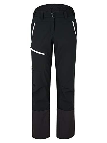 Ziener Damen NOLANE Softshell Hybrid Hose | Skitour, Winddicht, Elastisch, Funktionell, Black.White, 38