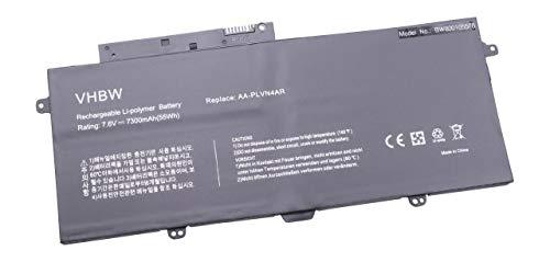 vhbw Li-Polymer Akku 7300mAh (7.6V) für Notebook Laptop Samsung Ativ Book 9 Plus, NP940X3G, NP940X3G-K01, NP940X3G-K01AU wie AA-PLVN4AR.