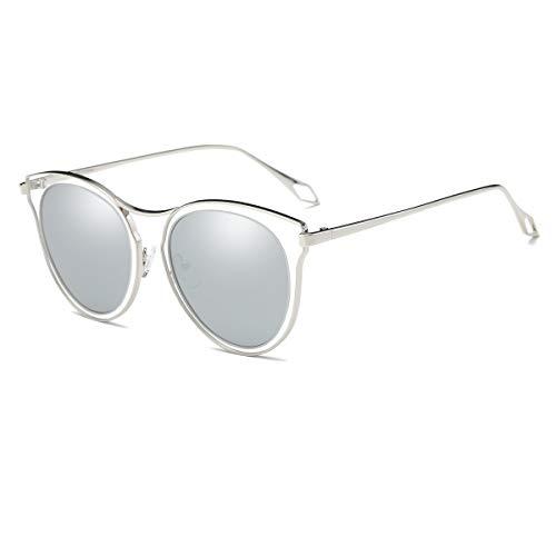 TYJYY Sunglasses Luxury Polarized Sunglasses Women Round Alloy Frames Mirror Sun Glasses Shades Man Fishing