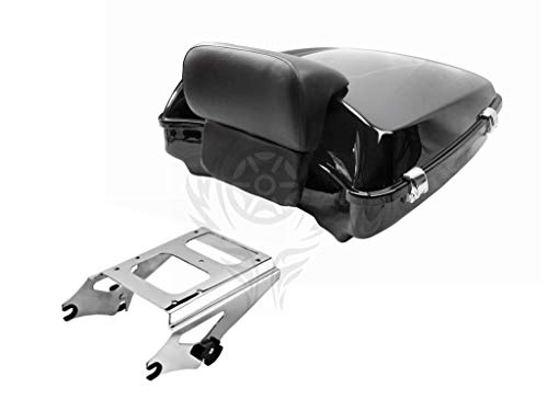 Razor Tour Pak Pack Trunk w/Two-Up Rack For Harley Road Street Glide 14-19