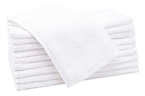 ZOLLNER 10 Toallas de tocador Blancas, 30x50 cm, algodón 100%, en Otra Medida