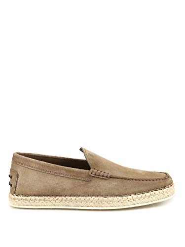 TOD'S Espadrilles style suede loafers
