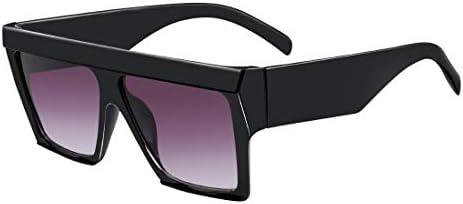 MEETSUN Oversized Flat Top Sunglasses for Women Men Square Designer Fashion Shades Black Frame product image