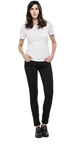 Replay Hyperflex Damen Skinny Jeanshose Luz, Gr. W27/L30 (Herstellergröße: 27), Schwarz (BLACK 98)