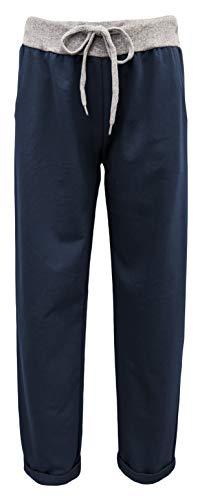 Damen Jogginghosen Uni Yogahosen Freizeithosen Sporthosen sommerliche Damenhosen (44-46, Marine)