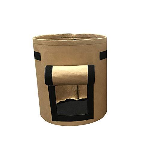 Homeofying Pot de fleurs pliable en tissu non tissé pour usage extérieur et intérieur marron
