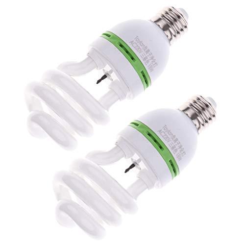 Homyl 2 Pcs E27 Ampoule Spirale Lumière Anion Purificateur d'air Double-tête en Plastique 220V