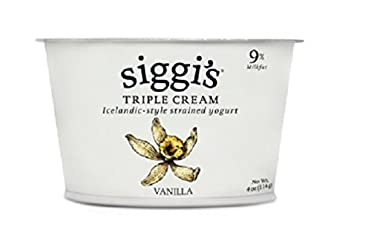 Siggis Icelandic Style Strained Triple Cream Yogurt, Vanilla, 4 Ounce