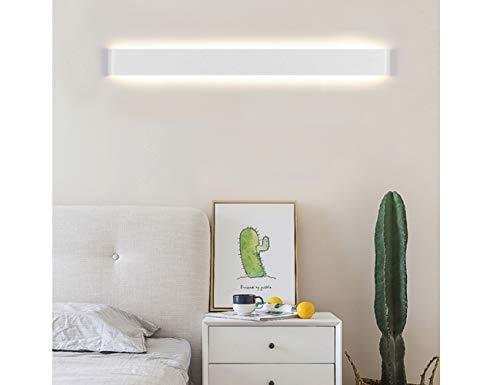 K-Bright 24W LED Spiegelleuchte Flurleuchte,28 zoll,2700K-3000K Warmweiß Badlampe AC 85V-265V,Abstrahlwinkel 120°,wasserdicht IP44 Aluminium Weiß Wandleuchte