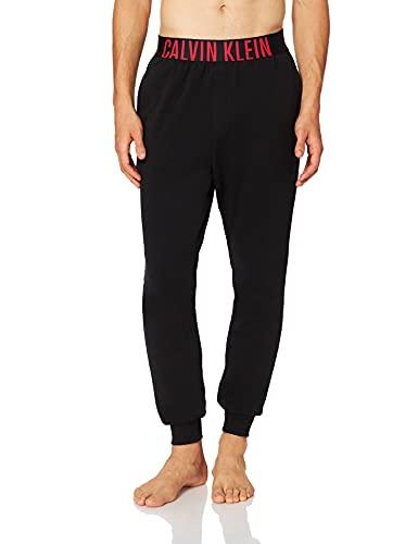 Calvin Klein Jogger Pantaln de Pijama, Negro con batido de Fresa, M para Hombre