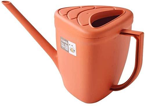 N\A Jardinería El Engrosamiento de plástico Regadera Cultivar un huerto casero de riego Largo de la Boca de riego de Flores Regadera Dispositivo de riego Interior (Color: Naranja)