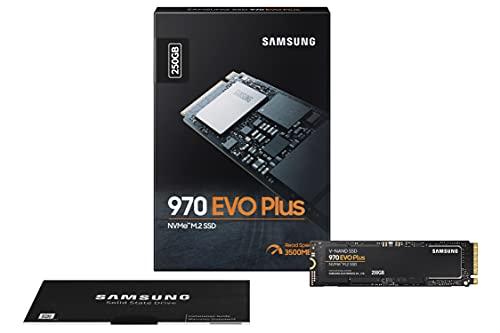 Samsung Memorie MZ-V7S250 970 EVO Plus SSD Interno da 250 GB, NVMe M.2