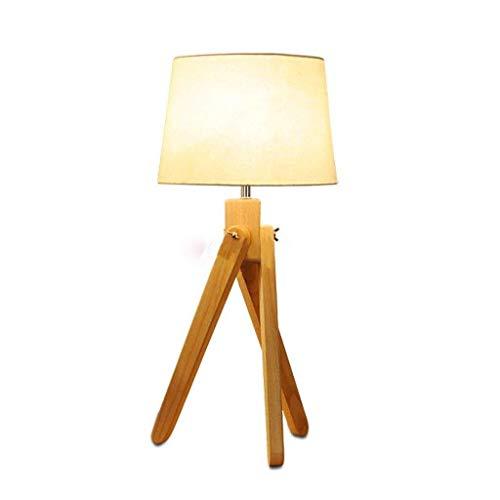 WEI-LUONG Lámparas de mesa, personalidad simple de la manera creativa de la personalidad de la lámpara de madera, iluminación de la sala de estar dormitorio enciende Den Cafe madera trípode Lámparas d