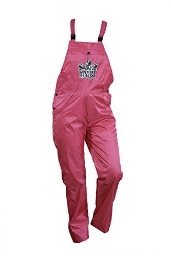 RubberBÜX Festival Ausrüstung Gadget Kleidung Hose Unisex Partyhose Gartenhose Latzhose Selbstdesignen Wasserabweisend (M, pink)