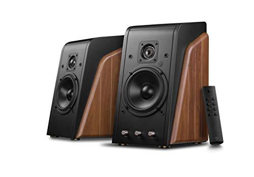 Swans Speakers - M200 DSP - Powered 2.0 Wireless Bookshelf Speakers - HiFi Speakers - 28mm Cat Eye Dome Tweeters - 5.25'' Midbass Drivers - 80W