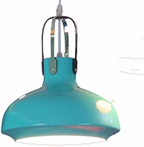 Warm-MSKL Les Lustres De Fer De Chambre à Coucher De Simplicité De Chambre à Coucher Créatrice S'Allume Des Lumières, Diamètre Bleu 26  30Cm