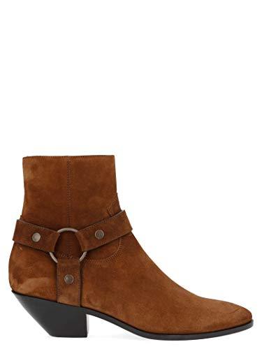 Saint Laurent Luxury Fashion Damen 5795820Z6006711 Braun Leder Stiefeletten | Herbst Winter 19