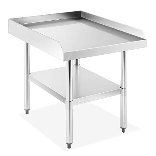 "GRIDMANN NSF 16-Gauge Stainless Steel 24""L x 30""W x 24""H Equipment Stand Grill Table with Undershelf for Commercial Restaurant Kitchen"