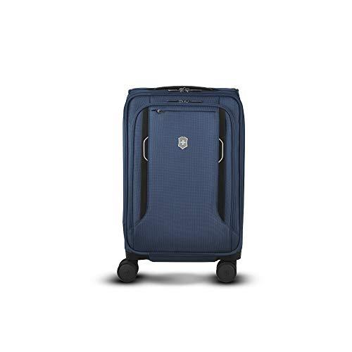 Victorinox Werks Traveler 6.0 Softside Frequent Flyer Carry-On - Valigia Trolley Bagaglio a Mano Espandibile - Leggero 4 Ruote - 23x35x55cm - 32l - 3,3Kg - Blu