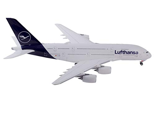 herpa 559645 – Airbus A380, Lufthansa Doppeldecker, Wings, Modell Flugzeug, Flieger, Modellbau, Miniaturmodelle, Sammlerstück, Kunststoff - Maßstab 1:200