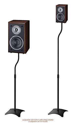 RICOO Lautsprecherständer BH-08 Lautsprecher Boxen Halterung Boden Stativ Höhenverstellbar Kabelkanal Lautsprecherhalter / 1 Paar 2 Stück Metall Schwarz