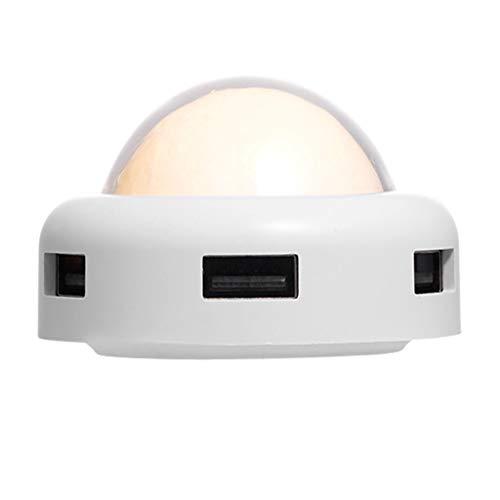 Extender Lunar Light USB-Schnittstelle Splitter Desktop-Computer Extender Cartoon Kreativer Multi-Port-HUB One Drag Four Extender 4-Port USB 3.0 HUB-Schaltkabel Laden mit 2-Modus-Mondlampe DC 5V