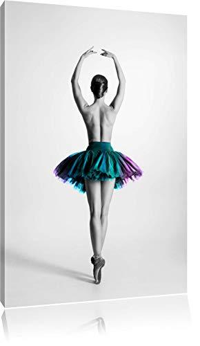 Pixxprint Ballerina aggraziata in Tutu Stampa su Tela 60x40 cm Artistica murale