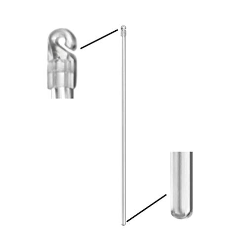Poppylove Vertical Blind Wand Replacement | 17' Tilt Rod Easily Hooks onto Existing Window Blinds | Clear Plastic Control Handle Stick | Replacement Part Blind Opener Accessory (17')