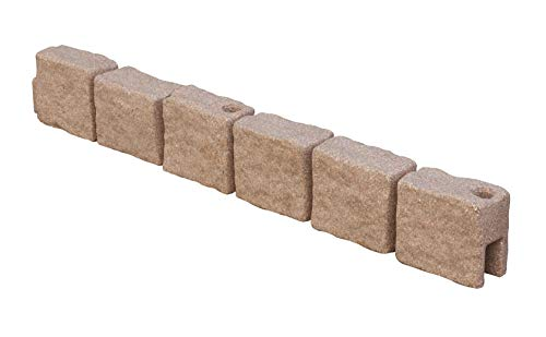 True Form Plastic Flex-Wall Landscape Edging (4 Foot Section, Cobblestone)