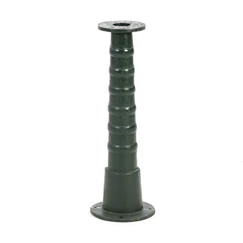 Ribelli Pumpenständer für Gartenpumpe Schwengelpumpe Verlängerung für Handpumpe Typ 75 Rundflansch - grüne Pumpe Pumpenzubehör Handschwengelpumpe Nostalgie