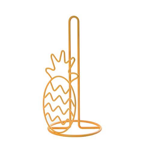 Kamenstein Pineapple Wire Paper Towel Holder, 12-Inch, Radiant Yellow