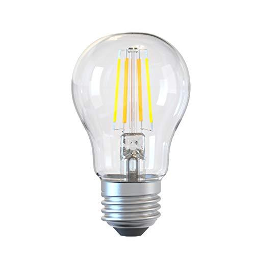 TELLUR Smart LED Wi-Fi Lampadina E27, app per smartphone, compatibile con Amazon Alexa e Google Assistant, 6 W, bianco/caldo, 600 lumen, dimmerabile, E27