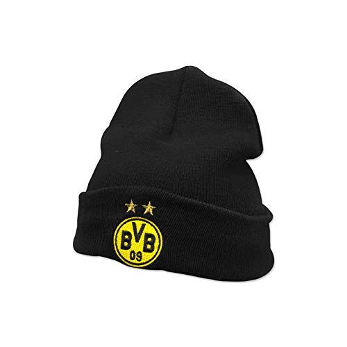 Borussia Dortmund BVB-Beanie (schwarz) für Kinder one Size