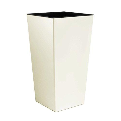 Prosperplast bloempot 40x40x75 wit (crème).