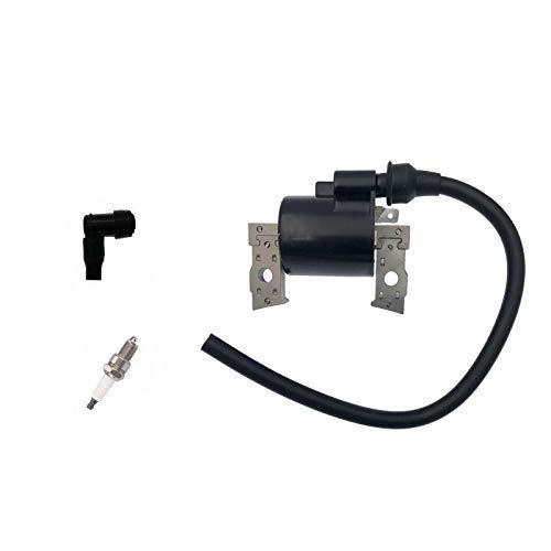 PARTSRUN #21121-2086 (ID#BM3671) Zündspule mit F7TC Zündkerze und Kawasaki FB460V für Kabota Rasentraktor John Deere AM121820 ZF128B-HHS