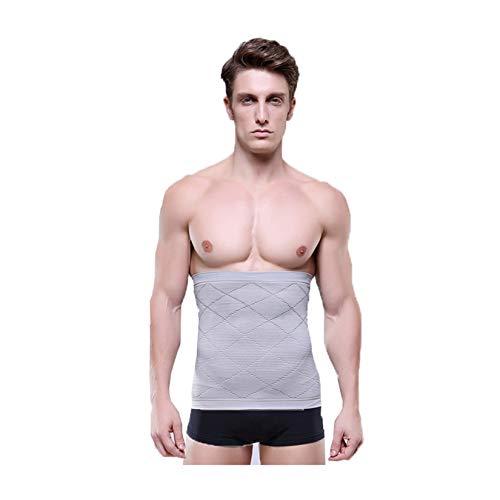 Soporte de cintura para hombre, ajuste deportivo, traje de sauna, soporte de cintura para abdomen, gimnasio, gimnasio, adelgazamiento, cómodo, transpirable, alta elasticidad, gris, XL