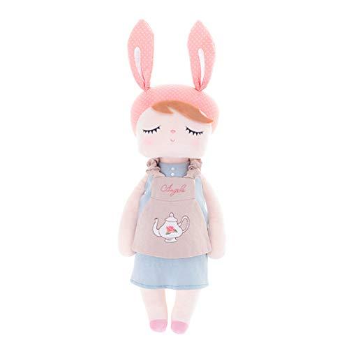 Dreameryoly Kaninchen, schlafender Vintage-Stil, Plüsch-Spielzeug, rosa Ohren, trägt ein Kleid, nützlich zu verwenden