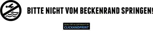 CLICKANDPRINT Aufkleber » Bitte nicht vom Beckenrand springen!, 100x14,0cm, Schwarz • Dekoaufkleber / Autoaufkleber / Sticker / Decal / Vinyl