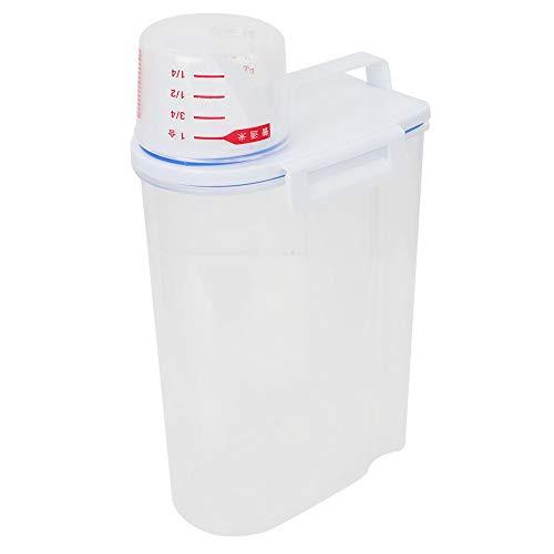 Cocina con Báscula Recipiente de Plástico Espesado a Prueba de Insectos Anti Humedad Cubo de Arroz Botellas de Almacenamiento Frascos 4. 4Lbs
