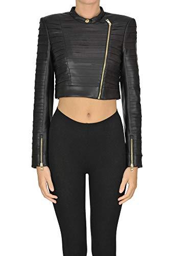 Luxury Fashion | Patrizia Pepe Dames MCGLCSG0000B7044E Zwart Elasthaan Outerwear Jassen | Seizoen Outlet