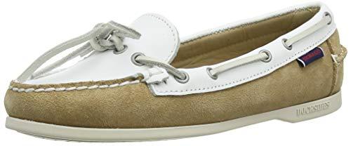 Sebago Women's 71113QW Boat Shoes Multicolour (Ltbeige-White A2a) 8 UK, 10.5