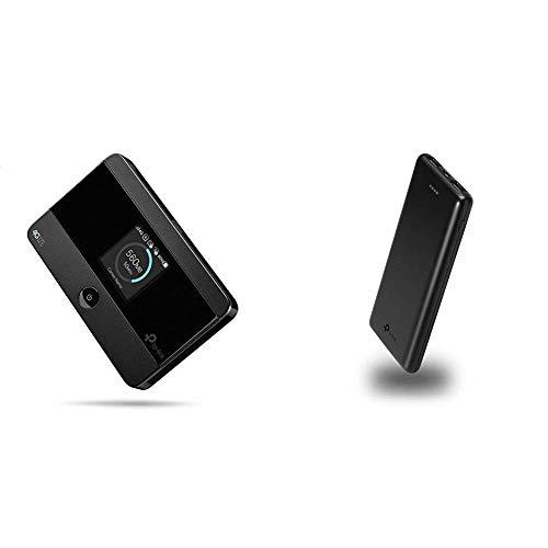 TP-Link M7350 Mobile Router Hotspot Portatile + TP-Link Powerbank 10000mAh Caricabatterie Portatile Batteria