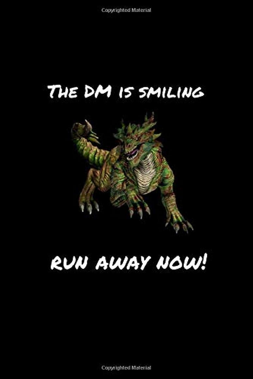 安価なアンドリューハリディマニュアルThe DM Is Smiling Run Away Now!: Role Playing Game (RPG) notebook with alternating journal paper for writing and hexagon paper for drawing maps