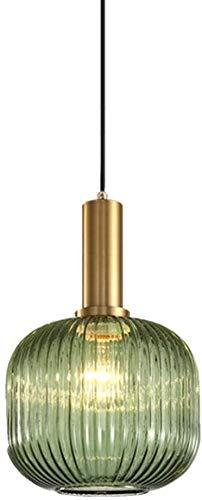 GaLon Glazen Hanglamp Kap Modern Groen Plafond Lampenkap Glazen Lamp Smeedijzeren Kroonluchter Lamp Edison E27 Hanglamp Droplight 20 Cm